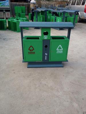 贵阳垃圾桶 产品材质:镀锌板喷户外塑粉加不锈钢